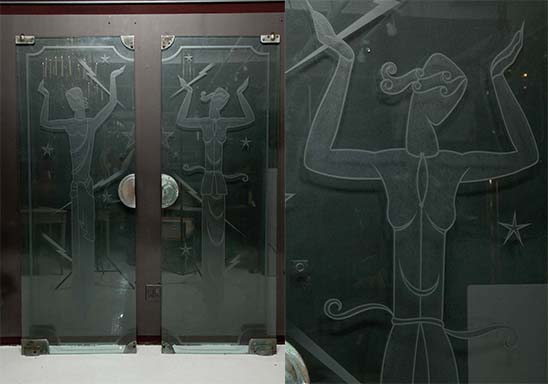 Beautiful Etched Glass Doors from the Iconic Biba Emporium, London England