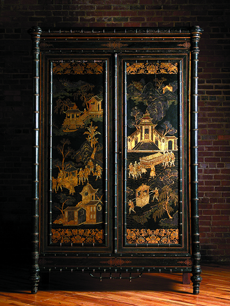 "Chinoiserie is derived from the French word Chinois, meaning ""Chinese"""