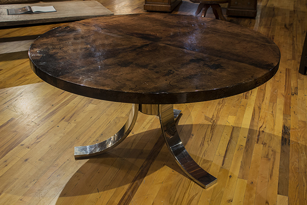 Parchment Top Center Table