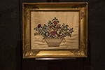 english needlework in gilt frame