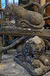 carved stone lions from holland