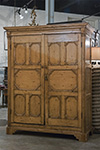 country pine  irish armoire, linen press