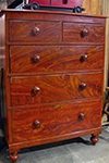 english red chest of drawers