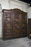 italian three door walnut cupboard