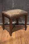 english needlepoint stool w/ x stretchers