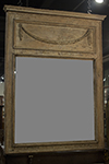italian trumeau mirror with scrubbed finish
