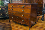 georgian straight front mahogany chest of drawers with brass casters