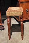 english stool with lion