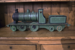 wooden painted toy train from england
