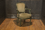 a remarkably well developed  french louis xv walnut  fauteuil,