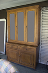 french grain painted display cabinet