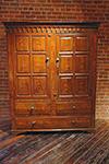irish grain painted cupboard with fielded panel doors