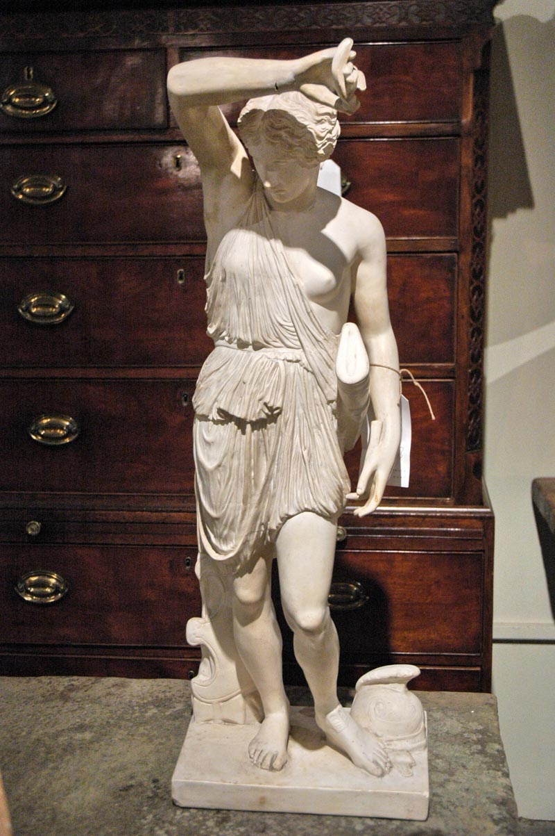 french plaster statue
