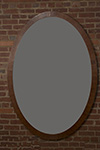 english mahogany oval mirror