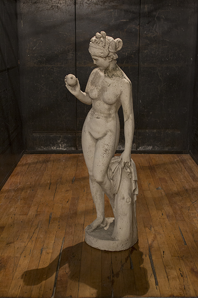 english statue of a girl