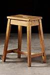 pair of english oak pub stools
