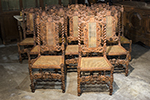 set of english twelve dining chairs