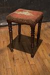 english tall needlepoint stool