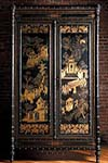chinoiserie lacquered 19th century edwardian period two door wardrobe