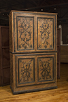 italian four door painted armoire