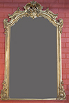 french gilded mirror with carved arched crest