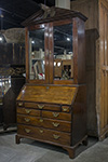 irish mahogany bureau bookcase