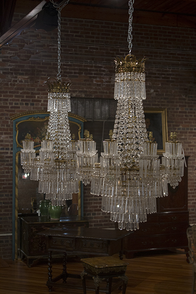 PAIR OF FRENCH CHANDELIERS