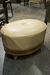 eight french leather ottoman (priced individually)