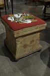 italian storage stool with beaded top