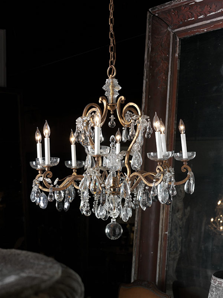 FRENCH BAQUES CRYSTAL CHANDELIER