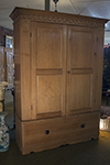 english pine armoire/cabinet with hidden bottom storage