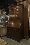 george ii mahogany bureau cabinet fitted with drawers, shelves and pigeon holes