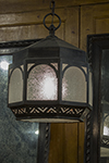 english octagonal lantern with seven panels of frosted glass