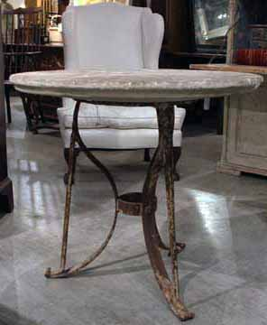 french stone top garden table