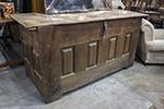 belgium oak coffer with original hand made latch