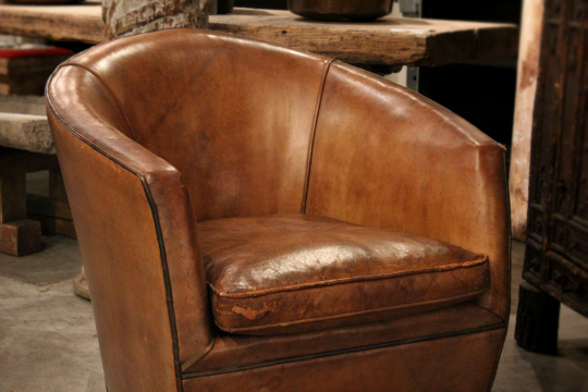Leather armchair by bart van bekhoven holland