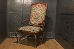 french needlepoint elm armchair