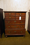 english pine chest on chest with bun feet