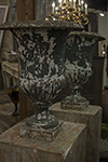pair of french painted iron urns