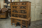 english country mulberry chest on stand