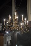 brass eight arm chandelier