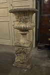 english composite urn on stand