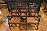 set of 8 scottish mahogany & leather dining chairs