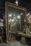 large italian mirror with original plate