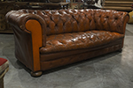 transitional straight back english leather chesterfield sofa