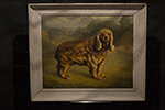 english oil painting of dog
