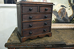 english oak straight-front apprentice chest of drawers