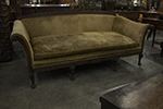 english hepplewhite walnut sofa
