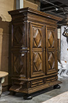 mid-19th century louis xiii style 2-door armoire in walnut