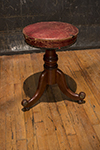regency style piano stool with leather seat